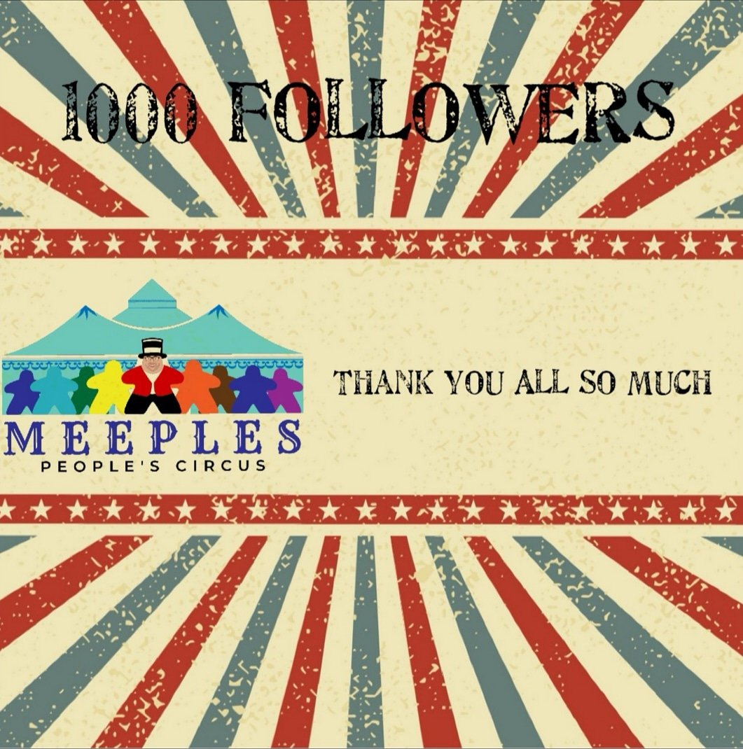 1000 followers on instagram – Meeples Peoples Circus
